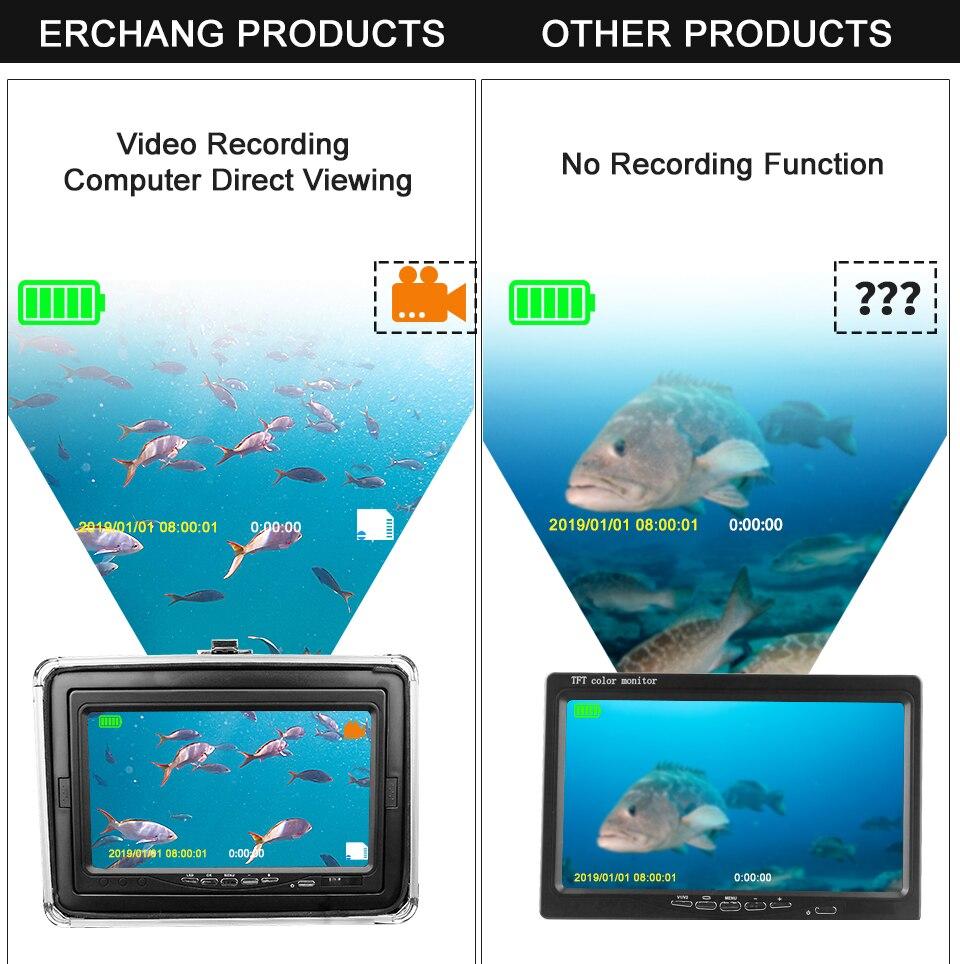 Fisch Finder Unterwasser Angeln Kamera HD Bildschirm 12 stücke Weiß LED + 12 stücke Infrarot Kamera Für Angeln mit Freies telefon Wasserdichte Tasche