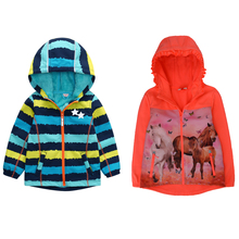 Boys and girls autumn winter coat childrens jackets boys outdoor soft shell rain windproof plus velvet thick