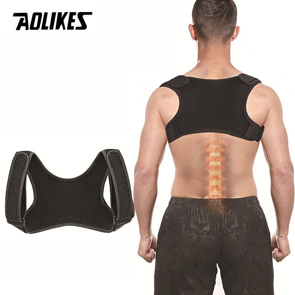 AOLIKES New Posture Corrector Spine Back Shoulder Support Corrector Band Adjustable Brace Correction Humpback Back Pain Relief title=