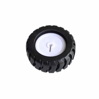 D-axis rubber tires, robot accessories, 43MM tracking car model wheels, with N20 geared motor image