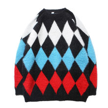 Women Mens Mens Sweaters 2020 Pullover Knit Longsleeve Sweater Fleece Wool Cardigan Male Rhombic Warm Winter Inside Outwear(China)