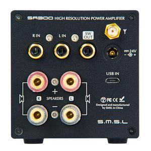 Image 4 - SMSL SA300 HiFi wzmacniacz mocy cyfrowy wzmacniacz dźwięku Bluetooth 5.0 32bit/384kHz Subwoofer z pilotem niebieski i czerwony i czarny