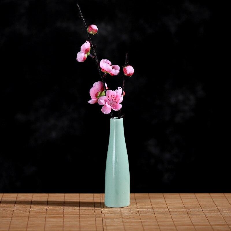 Керамическая маленькая ваза, свежий xiao hua cha, простая креативная классическая ваза для спальни, гостиной, Цветочная композиция, украшение