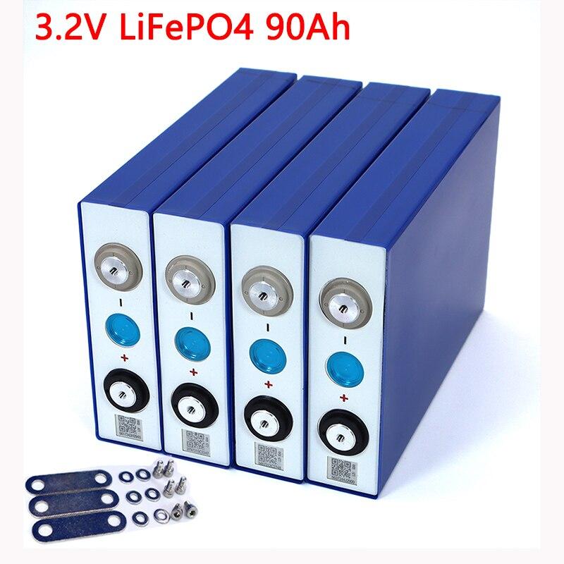 Liitokala 3.2V 90Ah Battery LiFePO4 Lithium Phospha Large Capacity 12V 24V 48V 90000mAh Motorcycle Electric Car Motor Batteries