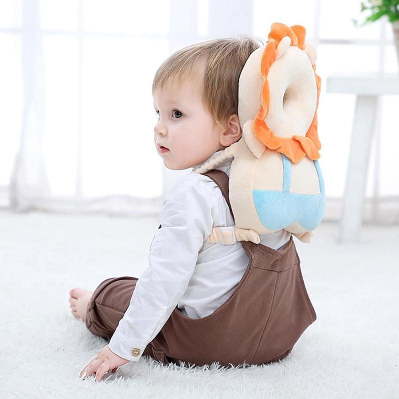 Baby Head Protection Pillow Cute Cartoon Breathable Infant Anti-fall Pillow