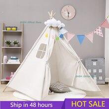 Tente de Tipi pour enfants, Tipi Portable, maison pour enfants, Cabana, décoration, tapis, LED lumières