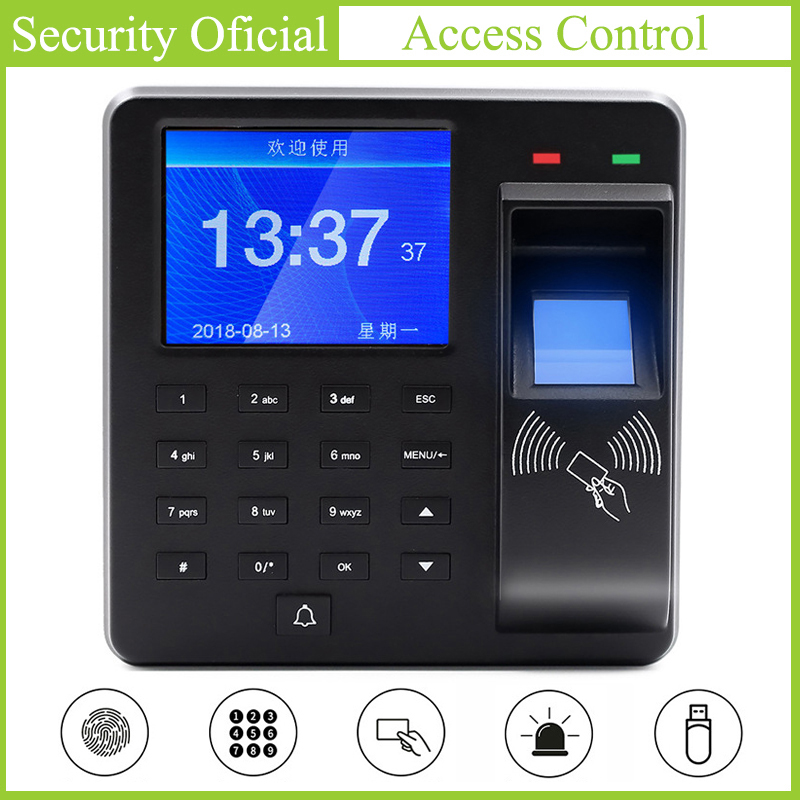 Biometric Fingerprint Recognition Device Time Attendance System Clock Recorder Employee Recognition Recording Electronic Machine