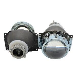 Image 3 - Lentille de projection au xénon caché, 3.0 pouces H4Q5 Bi, support métallique D2S D2H, ampoule au xénon, pour LED jours de course, yeux dange, décoration de voiture, 2 pièces