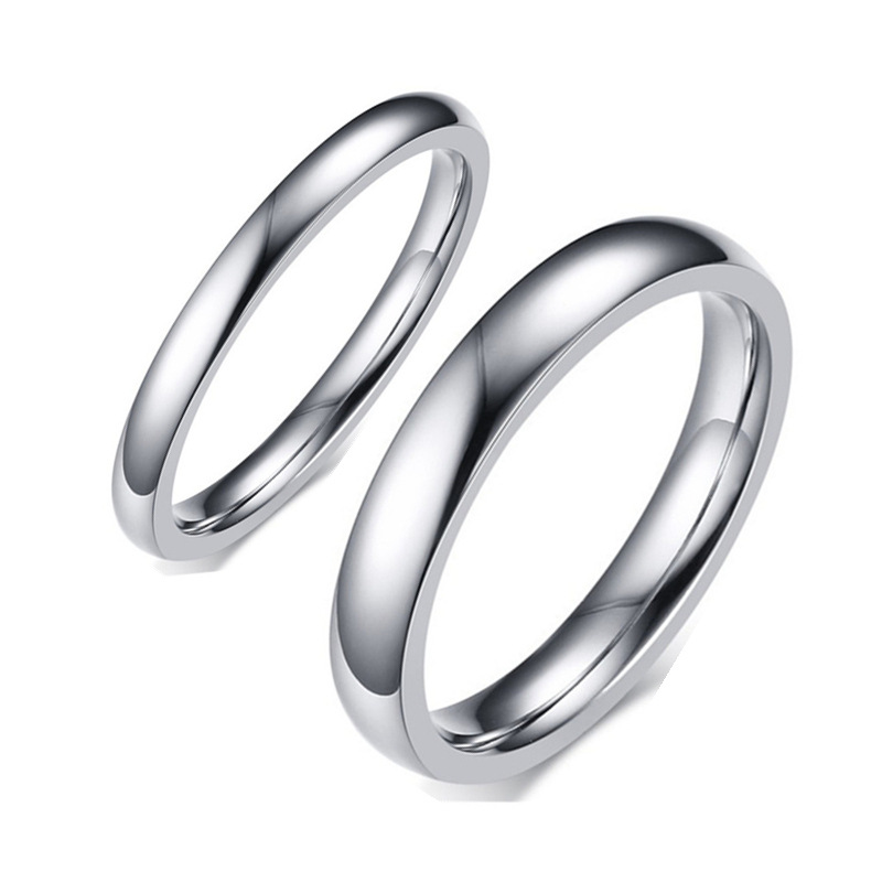 Классические 316 обручальные кольца из титановой нержавеющей стали серебристого цвета, кольца для мужчин и женщин, удобные, подходят для аме...