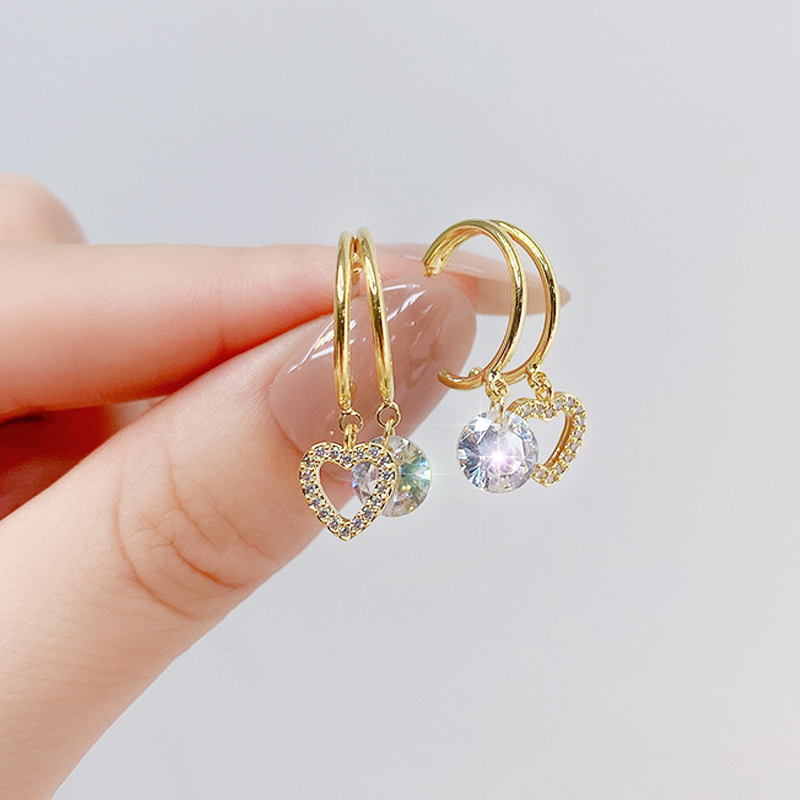Earrings 14K Real Gold Long Style Tassel Earring for Women Elegant Zirconia Drop Pendets Feminia Gorgeous Jewellery Accessories