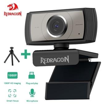 REDRAGON GW900 APEX USB HD Webcam autofocus Built-in Microphone 1920 X 1080P 30fps Web Cam Camera for Desktop Laptops Game PC 1