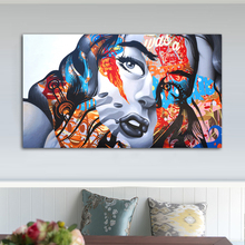 Colorful Girl Posters And Prints Graffiti Woman Pictures For Home Canvas Painting Wall Art For Living Room Decoration No Framed graffiti art colorful rain prints on canvas modern canvas painting wall art posters and prints for living room home decoration