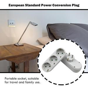 Image 4 - Avrupa dönüşüm tak 1 2 /1 ila 3 /1 ila 4 yollu soket adaptörü ab standart güç adaptör soketi 16A seyahat fişleri AC 110 ~ 250V