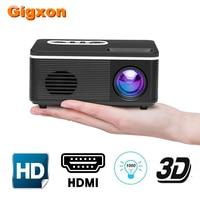 Gigxon H88 LED Projector 1000 lumen 320x240 Pixels 3D 1080P Support Loud speaker TF HDMI USB Mini Projector Home Media Player
