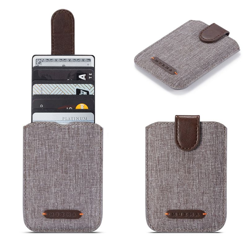High Quality RFID Blocking 5 Pull Credit Card Holder Cell Phone Wallet Case Stick Adhesive