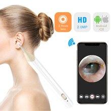 Беспроводной Эндоскоп ушной воск инструмент для очистки 3,9 мм ультра-тонкий WiFi hd камера для наблюдения за ушами удаление ушей с 6 светодиодами для iPhone IOS