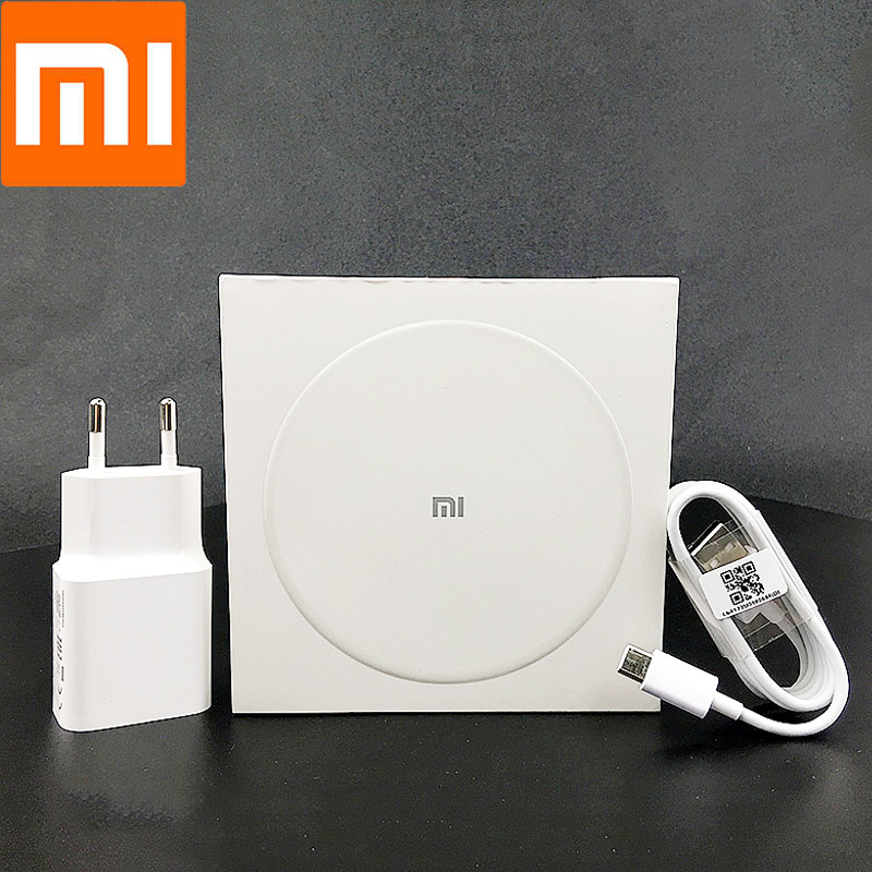 Xiaomi QI Wireless Charger Adaptive Original QC 3.0 Fast Charge Power Adapter For Mi 8 9 T 9se Cc9 Redmi Note 7 Iphone 8 X XS XR