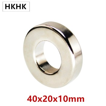 NdFeB Magnet Ring OD 40x20x10 (+/-0.1)mm thick Strong Neodymium Permanent Magnets Magnetic Tube Precision 1-5PCS image