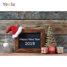 Yeele Christmas Photocall Old Wood Hat Gifts Pine Photography Backdrops Personalized Photographic Backgrounds For Photo Studio yeele christmas photocall candy old wood gift decor photography backdrops personalized photographic backgrounds for photo studio
