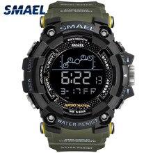 Sport Uhr Männer SMAEL Marke Military Shock 50M Wasserdichte Männliche LED Luminous Digital Multifunktionale Uhren Alarm reloj hombre