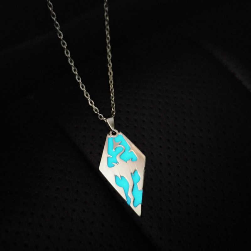 רטרו זוהר הדרקון שרשרת זוהר בחושך נירוסטה פאנק שרשרת תכשיטים לגברים נשים מתנה סיטונאי