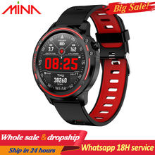 L8 Smart Watch Men Hold Mi watch IP68 Waterproof SmartWatch ECG Blood Pressure Heart Rate sports fitness pk L5 L9 smart watch(China)