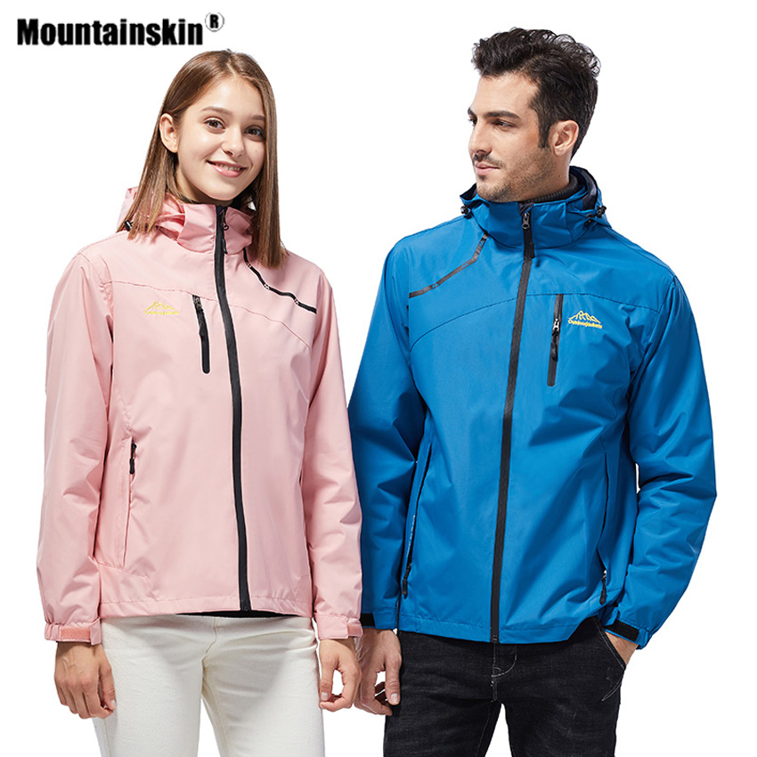 Mountainskin Men Women's Hiking Jackets Outdoor Sport Breathable Thin Windbreaker Camping Climbing Trekking Windproof Coat VA591