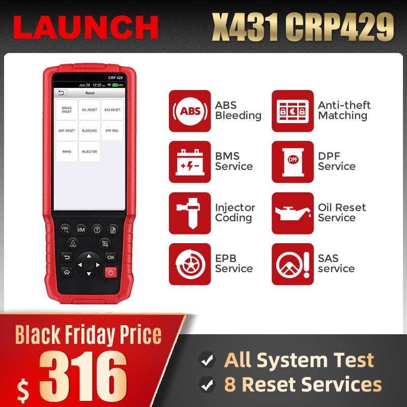 Launch CRP429 Car Diagnostic Tool Automotive Scanner All System Test Auto Scan Tools Autoscanner Diagnostics PK CRP429C MK808-in Code Readers & Scan Tools from Automobiles & Motorcycles on