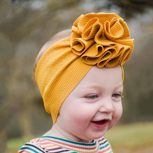 Lovely Flower Baby Headband Headwrap Elastic Baby Gilrs Hair Bands Turban Wide Solid Color Hairband Baby Hair Accessories