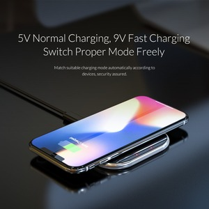 Image 2 - ORICO 10W Wireless Charger For iPhone X/XS Max XR 8 Plus Mirror Wireless Charging Pad For Samsung S9 S10+ Note 9 8