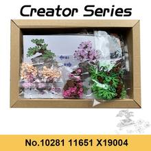New Product 10281 Creator Series Bonsai Tree Building Blocks Bouquet Rose Flowers Bricks For Girl Valentine's Gifts Mother's day