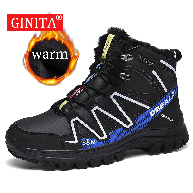 2019 Winter Fashion Sneakers Men Full Fur Lined Snow Boots For Men Warm Snow Shoes Male Footwear Outdoor Sport Shoes