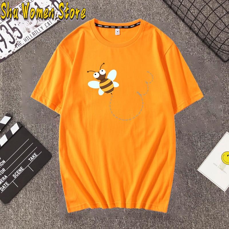 Hillbilly Women Bee Kind T-shirt Aesthetics Graphic Short Sleeve Cotton Polyester Harajuku  T Shirts Female Camisetas Verano Muj