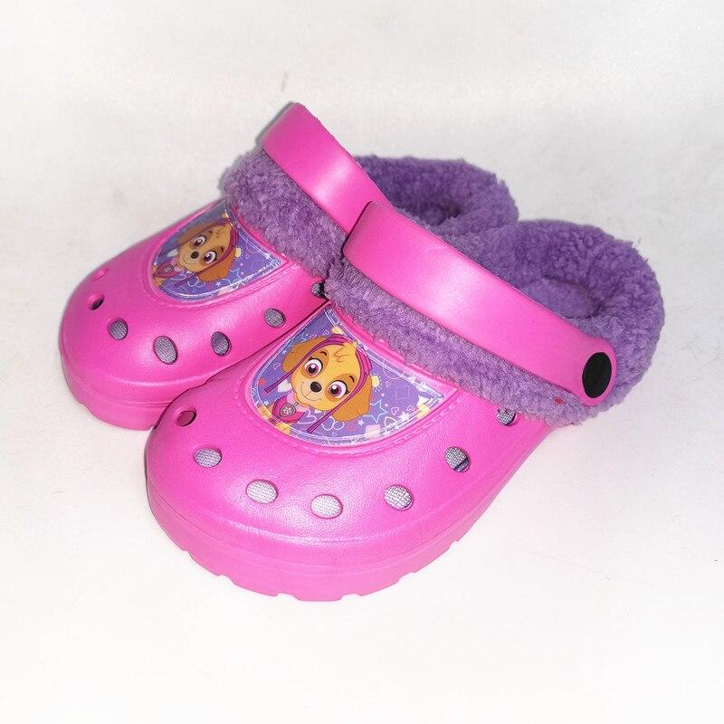 Ltolo Girls Children Kids  Mules Warm Clogs Winter Crock Garden Sandals Cartoon Slippers Cave Hole Baby Shoes For Girl EUR24-35