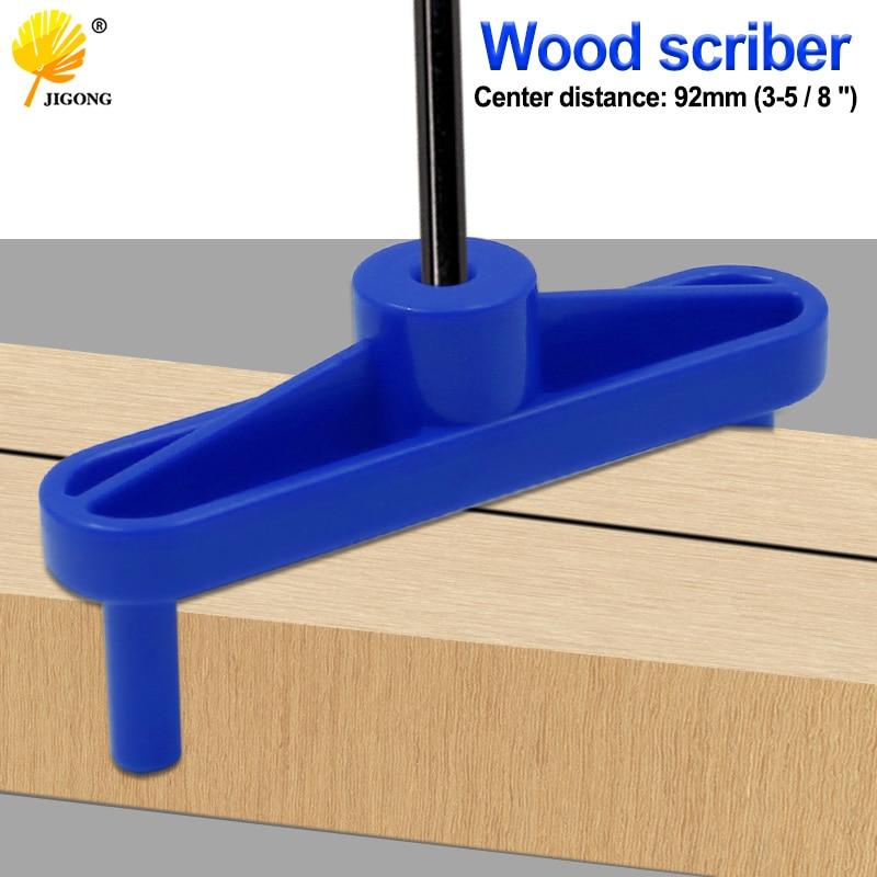 Woodworking Scribe Gauge Fixture Measure Line Ruler Doweling Jig Drill Guide Drilling Hole Connection Center Gauge Measurement