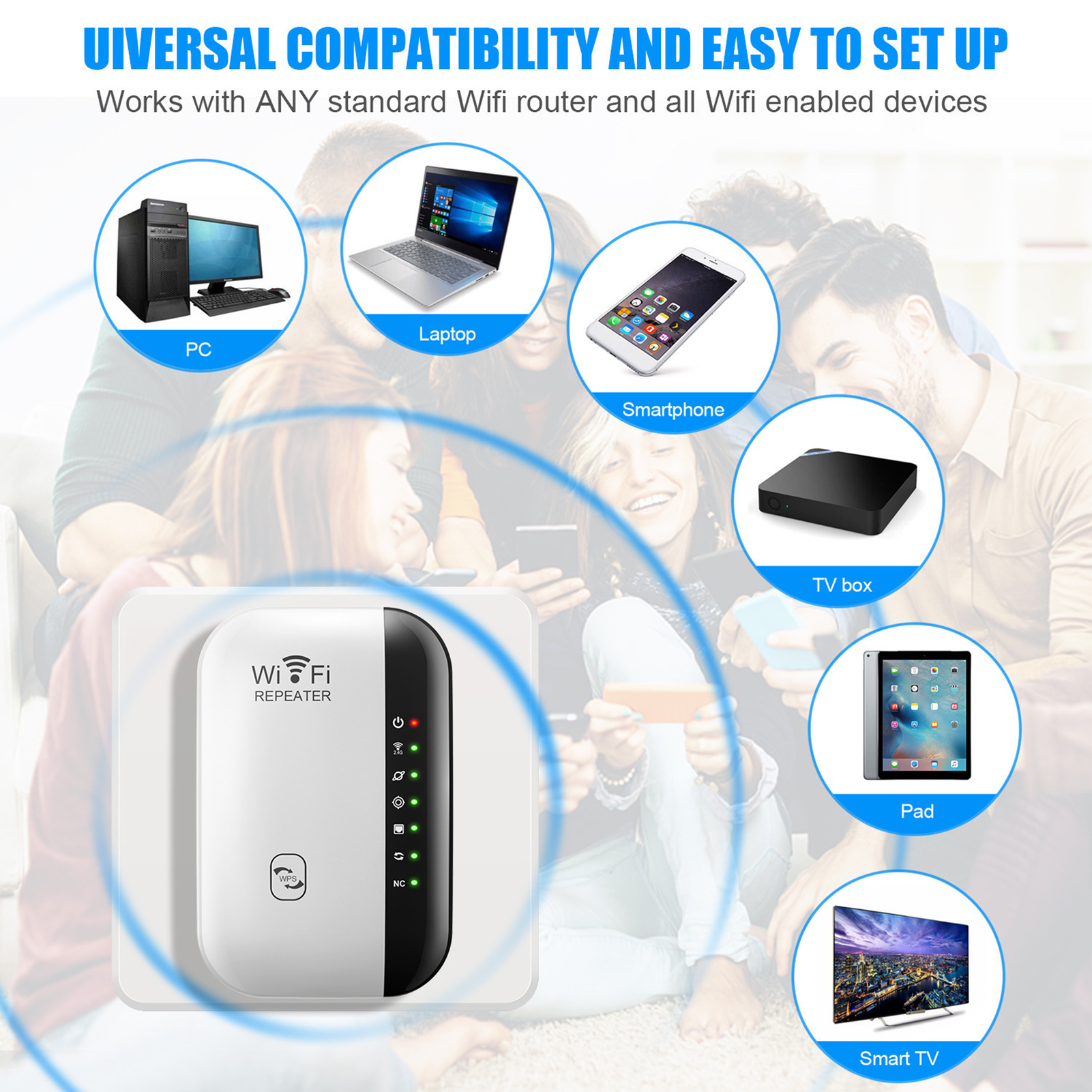 Wireless Wifi Repeater Wi-Fi Range Extender Router Wi Fi Signal Amplifier 300Mbps WiFi Booster 2.4G Wi Fi Reapeter Access Point 5