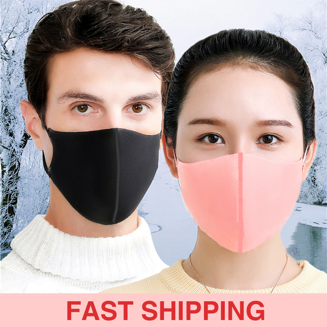 5pcs Protective Face Mask for Kids Men Women Sponge Dustproof Reusable Dust Respirator Outdoor Particulates Filter Safety Mask