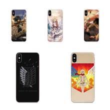 Мягкий ТПУ телефон для Huawei Honor 4C 5A 5C 5X 6 6A 6X 7 7A 7C 7X 8 8C 8S 9 10 10i 20 20i Lite Pro Attack On Titan Mikasa Japan(China)