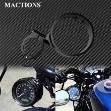 Xe Máy Đo Tốc Độ Vòng Bên Núi Relocator Chân Đế Kẹp 39 Mm Màu Đen Cho Harley Sportster XL 1993 2019 Dyna 1993 2005