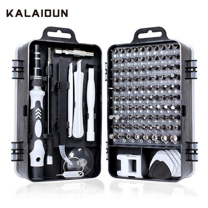 KALAIDUN Screwdriver Set 115 In 1 Bit Precision Magnetic Screw Driver Torx Bits Insulated Multitools Phone Repair Hand Tools Kit(China)