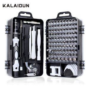 KALAIDUN Screwdriver Set 115 In 1 Bit Precision Magnetic Screw Driver Torx Bits Insulated Multitools Phone Repair Hand Tools Kit(China)