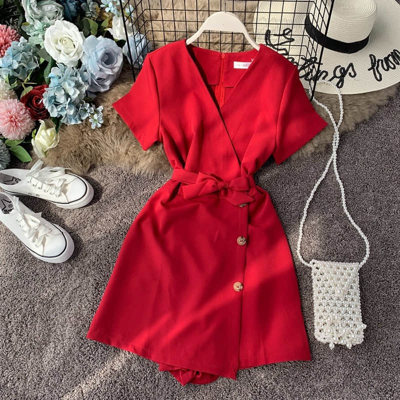 Hb7900862edfc493b9c9ebd34d6843e77n - Candy Color Elegant Jumpsuit Women Summer Latest Style Double Ruffles Slash Neck Rompers Womens Jumpsuit Short Playsuit