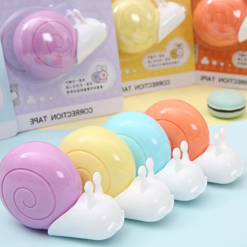M&G Stationery 6m M Little Snail Correction Tape Corretion Pen/fluid Correction Tape ACT55601 Cartoon Students