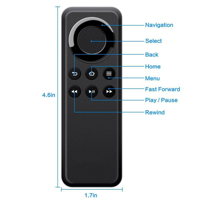 New Ymx-01 Bluetooth STB Remote Control Fit For Amazon Fire TV Stick CV98LM Replacement Remote Controller 2