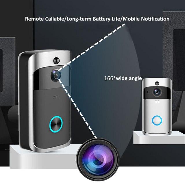 Wsdcam inteligentna kamera do drzwi frontowych Wifi połączenie bezprzewodowe interkom wideo-oko do apartamentów dzwonek do drzwi dzwonek do telefonu bezpieczeństwo w domu kamery