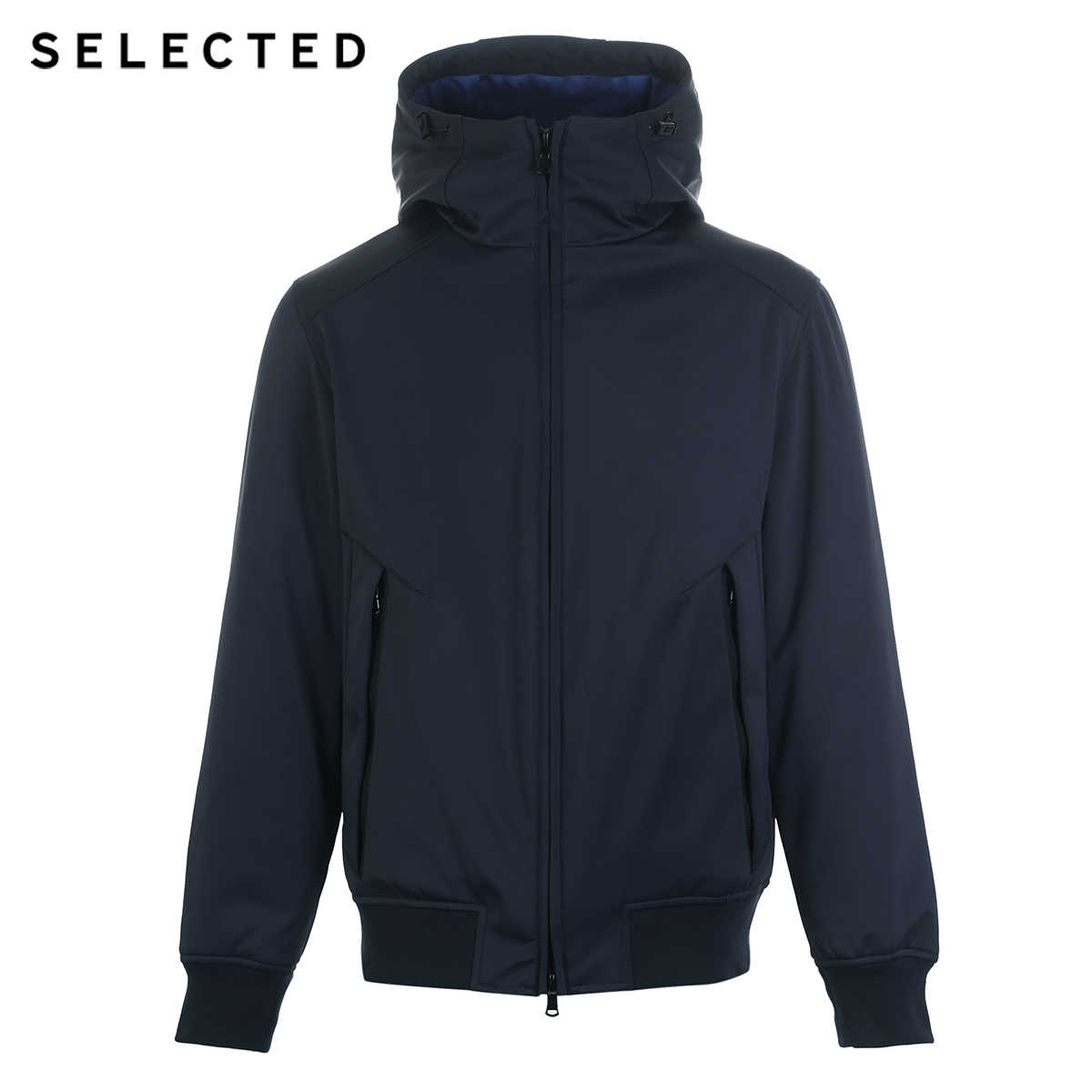 SELECTED New Short Down Jacket 겨울 남성 파카 Duck Down Coat 간단한 후드 캐주얼 따뜻한 옷 S | 419112511