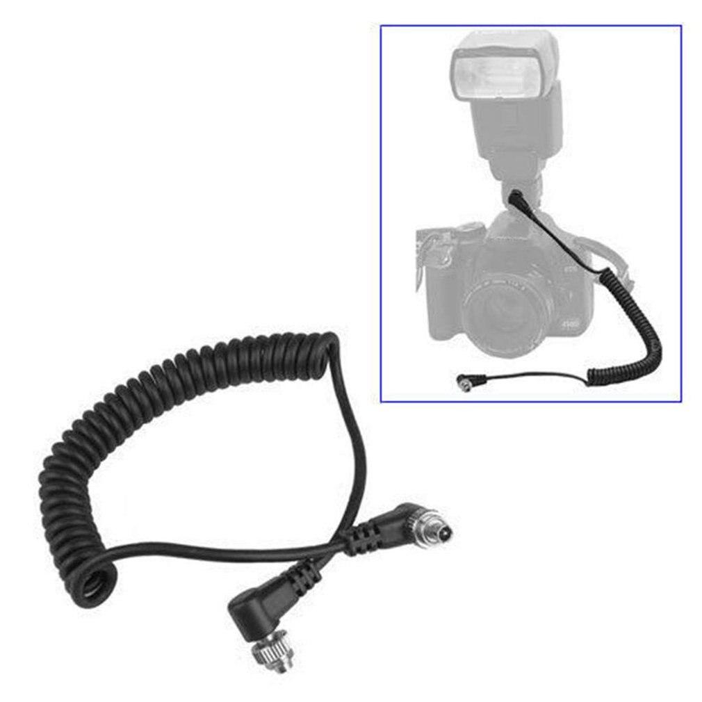 Пружинный кабель для синхронизации ПК со вспышкой от 2,5 мм до штекер вспышки 30-100 см для фотостудии Аксессуары для вспышки