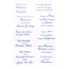 Transparent Clear Stamps for DIY Scrapbooking/Holiday greeting language/ChristCard Making/Kids Christmas Fun Decoration Supplies