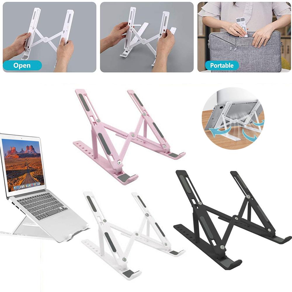 Laptop Stand Tablet Holder Desktop Foldable Holder Adjustable Riser Bracket Portable Holder Notebook & Tablet Accessories