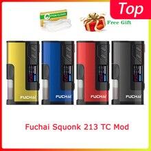 Просвет Fuchai Squonk 213 TC Mod 150W приведенный в действие 21700/20700/18650 Батарея электронная сигарета распылитель vape mod